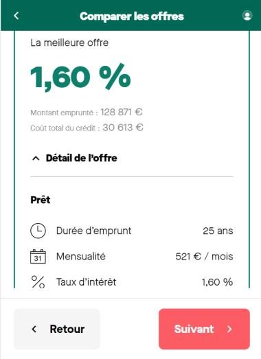 Simulation prêt immobilier de 125 000 euros sur 25 ans sans apport et avec un salaire mensuel de 1 500 euros