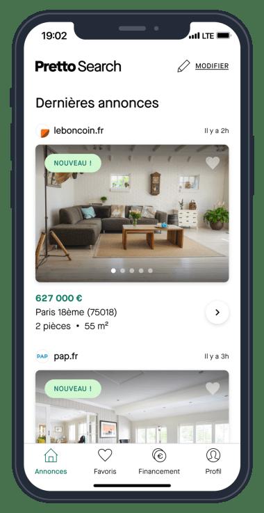 Pretto Search recherche immobilière