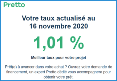 Email alerte taux immobilier
