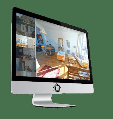 Affichage panoramique de la visite immobilière 360