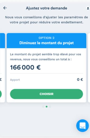 Simulation prêt immobilier de 166 000 euros sans apport option 2