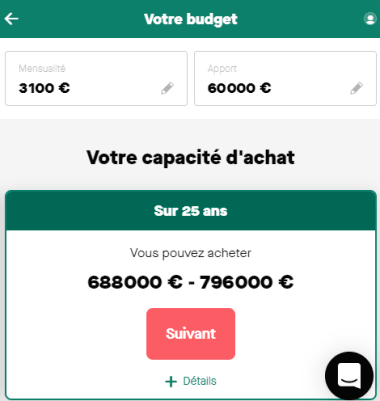 Simulation budget 25 ans avec un salaire de 8 000 euros par mois