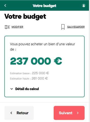 Simulation de la capacité d'emprunt sur 20 ans avec un salaire de 3500 euros