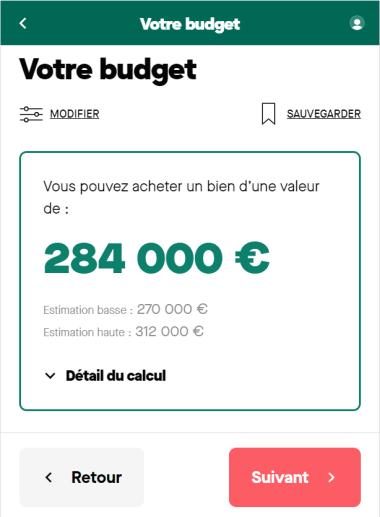 Simulation de la capacité d'emprunt sur 25 ans avec un salaire de 3500 euros