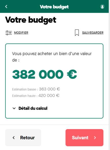 Simulation prêt immobilier sur 15 ans à 2 avec un salaire de 6 500 euros