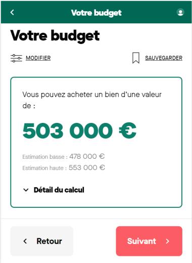 Simulation achat d'un bien d'un montant de 450 000 euros sur 20 ans