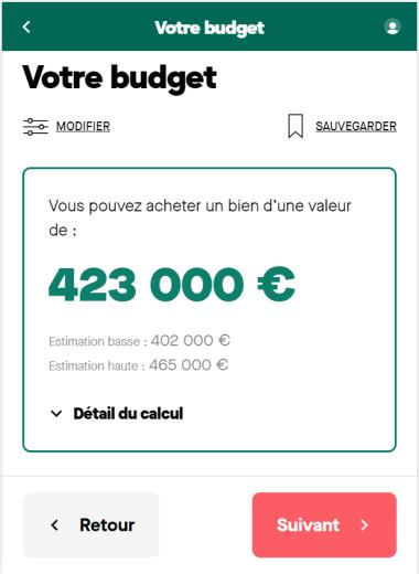 Simulation prêt immobilier sur 15 ans avec un salaire de 7 000 euros net par mois pour un foyer