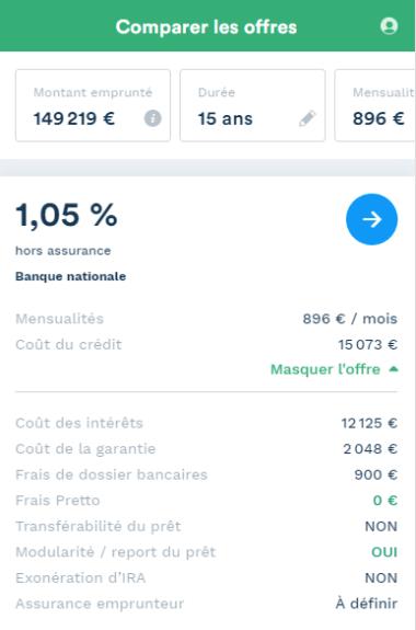 exemple de simulation pour un investissement locatif à Orléans