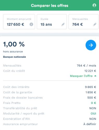 simulation d'investissement locatif à Besançon