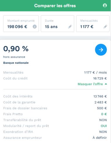 exemple de simulation pour un investissement locatif à Lille