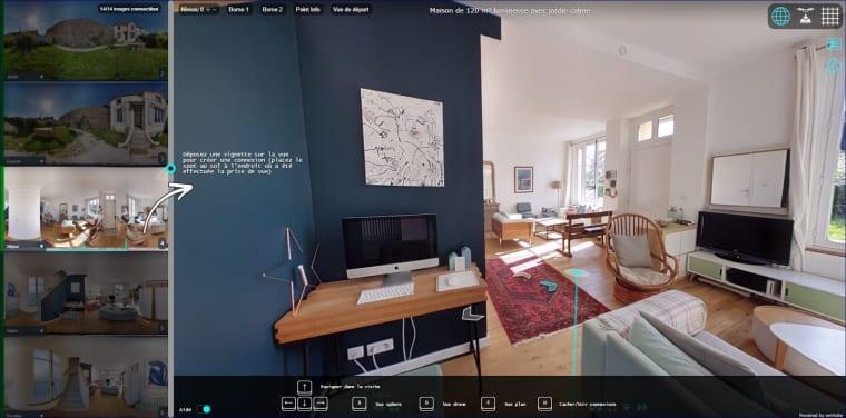 Fonctionnalités de la visite immobilière 360