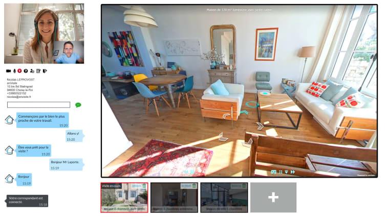 Capture d'écran visite immobilière 360