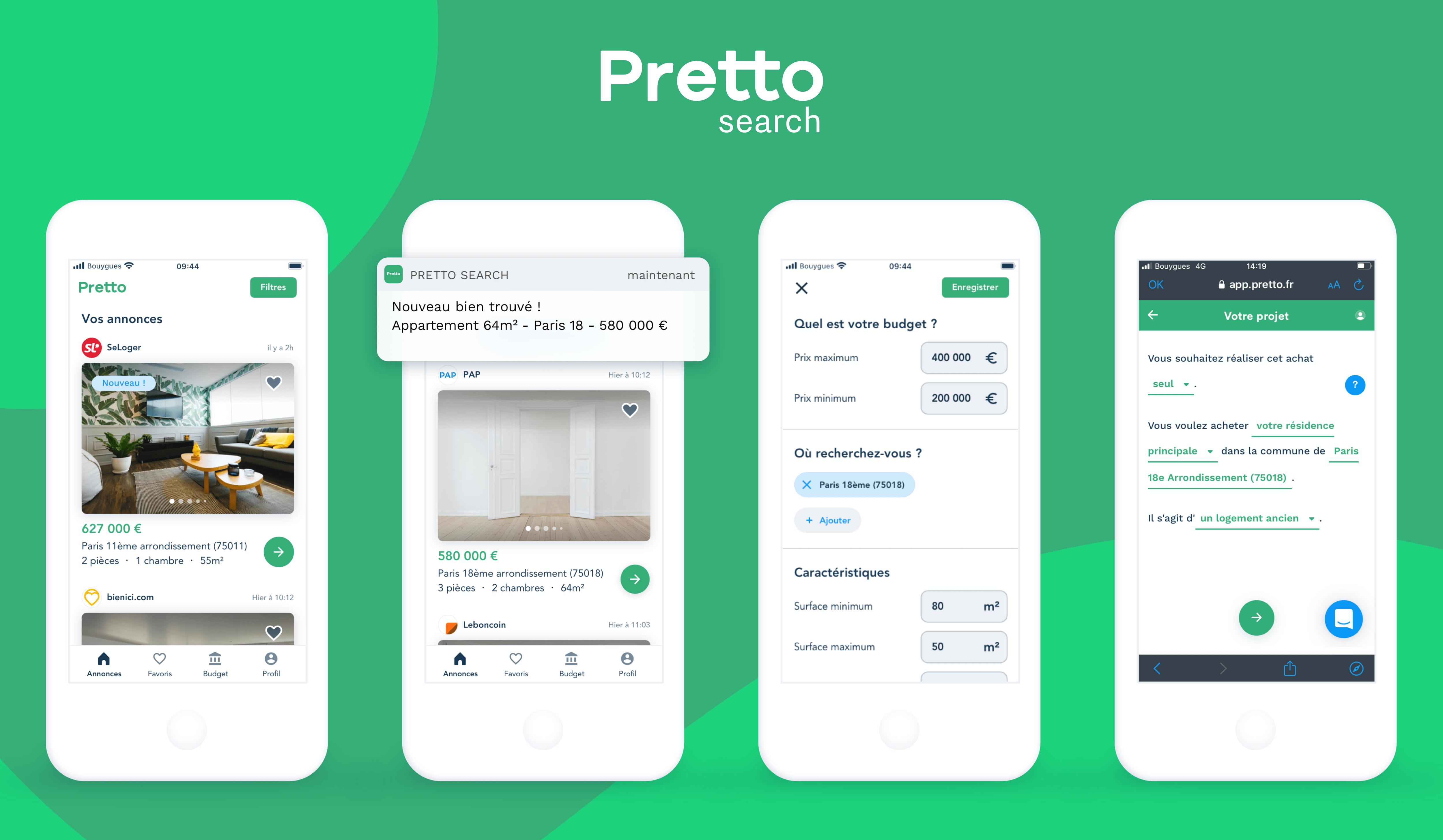 App Pretto Search
