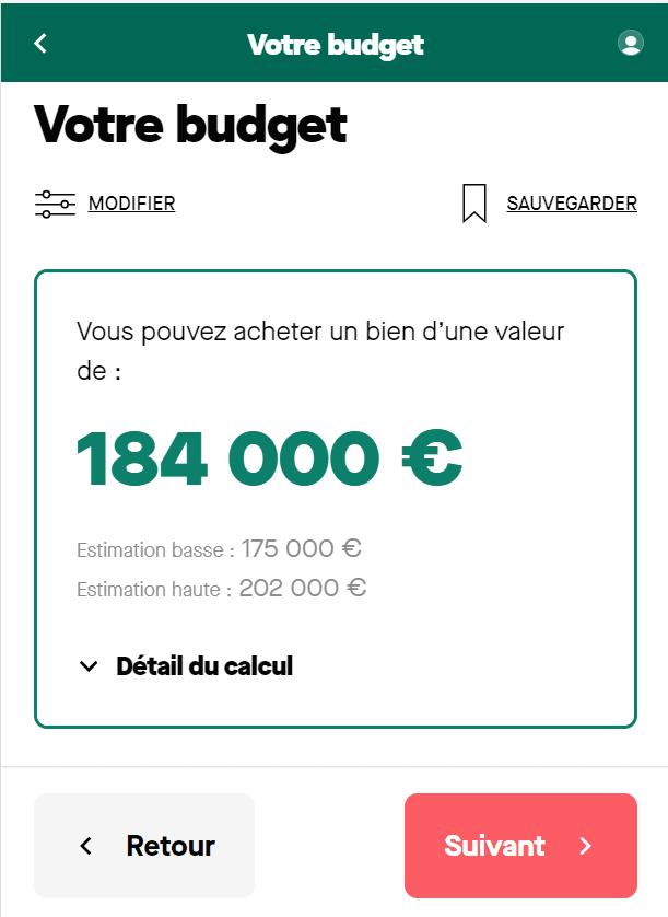 Simulation de la capacité d'emprunt sur 15 ans avec un salaire de 3500 euros