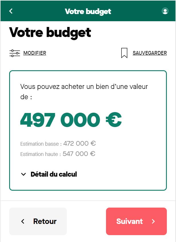 Simulation prêt immobilier sur 20 ans à 2 avec un salaire de 6 500 euros