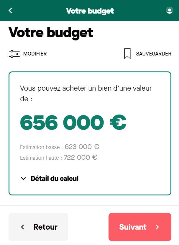 Simulation prêt immobilier sur 25 ans avec un salaire de 7 000 euros net par mois pour un foyer