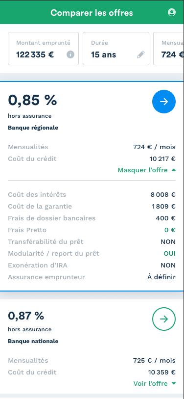 exemple de simulation en Auvergne