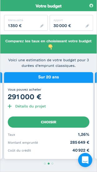 Le simulateur en ligne Pretto vous permet de définir votre budget.