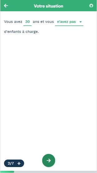 Capture d'écran de notre comparateur 2