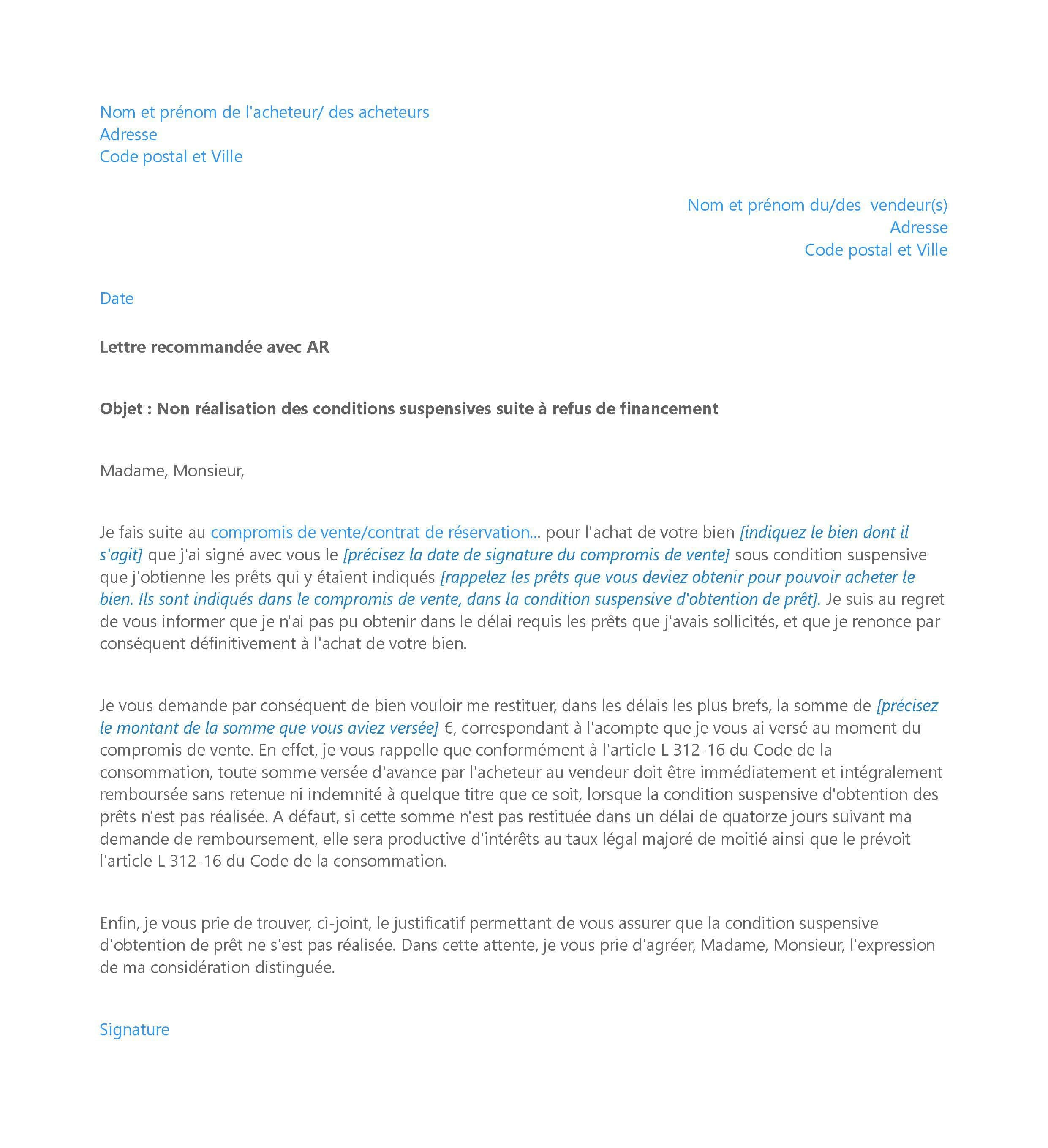 Lettre De Refus De Credit Immobilier Que Faire Pretto