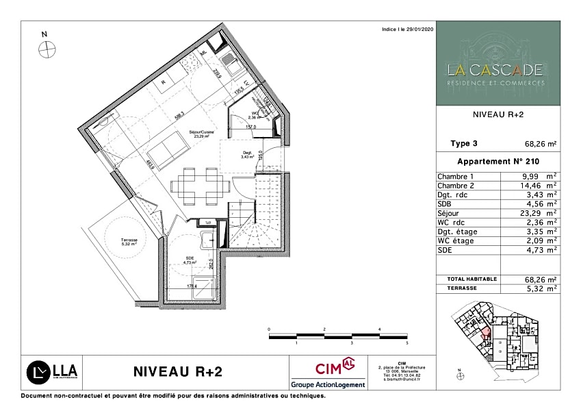 LA CASCADE T3  en duplex en vente à Martigues (13)