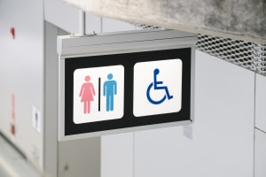 Disabled toilet sign