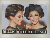 SLEEP-IN HAIR ROLLERS BLACK GIFT SET
