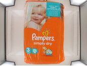 PAMPERS NAPPIES SIMPLY DRY SIZE 3 45'S