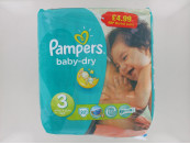 PAMPERS NAPPIES B/DRY SIZE 3 22S PM£4.99