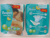 PAMPERS NAPPIES B/DRY SIZE 4 20S PM£4.99