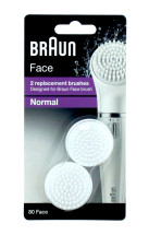 BRAUN NORMAL BRUSHES FACE 80 X2