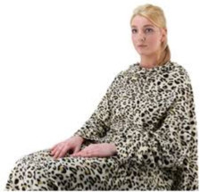 GOLD RUSH LEOPARD BLANKET WITH SLEEVES