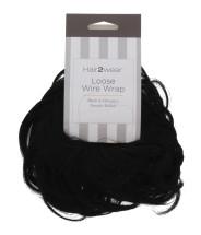 HAIR2WEAR LOOSE WIRE WRAP BLACK