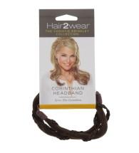 HAIR2WEAR CORINTHIAN HEADBAND MED BROWN