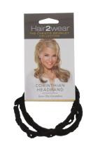 HAIR2WEAR CORINTHIAN HEADBAND DARK BROWN