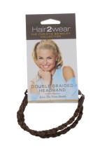 HAIR2WEAR DOUBLE BRAID HEADBAND LGHT BRW
