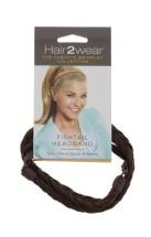 HAIR2WEAR FISHTAIL HEADBAND LGHT RED BRW