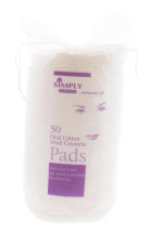 SIMPLY COTTON OVAL COSMETIC PADS 50'S