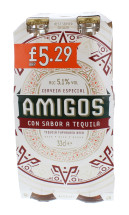 AMIGOS 4X330ML BEER £5.29 5.1%