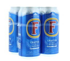 FOSTERS 4X440ML CAN £4.50 4%