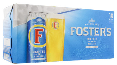 FOSTERS 10X440ML CAN 4%