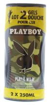 PLAYBOY 250ML S/GEL DUO PLAY IT WILD