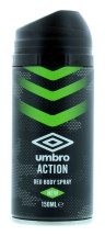 UMBRO 150ML DEO B/SPRAY ACTION