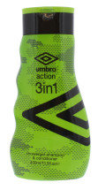 UMBRO 400ML 3IN1 S/POO COND B/WASH ACT