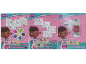 DOC MCSTUFFINS ART SET 3 X ASSORTED