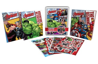 MARVEL AVENGERS HAPPY TIN 4PC PM £7.99