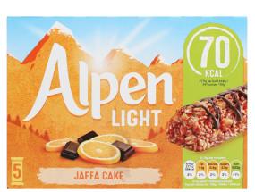 ALPEN LIGHT 5X19G JAFFA CK BAR