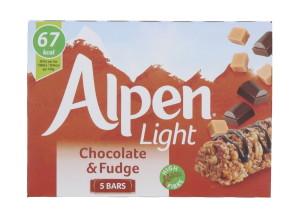 ALPEN LIGHT 5X19G CHOC&FDGE BAR