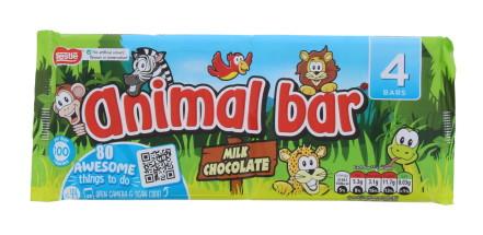 ANIMAL BAR M.CHOC 4PK (4X19G)