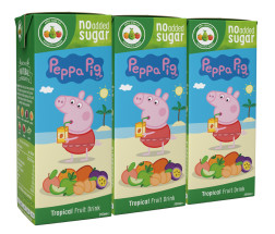 APPY KIDS 3X200ML PEP PIG TROP